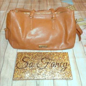 Olivia & joy sz large tan gold handbag purse